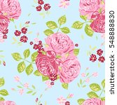 seamless pattern with flowers.... | Shutterstock .eps vector #548888830