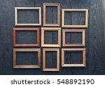 vintage frames on old wooden... | Shutterstock . vector #548892190