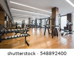 Modern Gym Interior With...