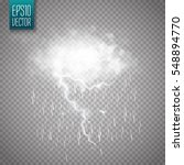 storm and lightning with rain... | Shutterstock .eps vector #548894770