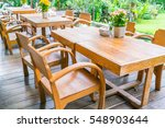 Tables And Chair In Outdoor...