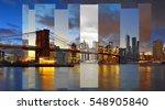 manhattan skyline with brooklyn ... | Shutterstock . vector #548905840