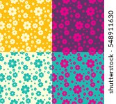 vector abstract pattern flowers ...