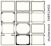 decorative simple frames  set... | Shutterstock .eps vector #548913403