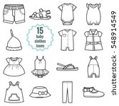 baby clothes icons set.clothing ...   Shutterstock .eps vector #548914549