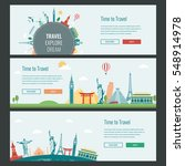 travel and tourism headers ... | Shutterstock .eps vector #548914978