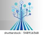blockchain vector background... | Shutterstock .eps vector #548916568