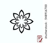 vector flower icon | Shutterstock .eps vector #548916700