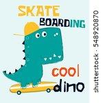 cool dinosaur vector... | Shutterstock .eps vector #548920870