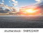 asphalt road and sky at sunset | Shutterstock . vector #548922409