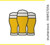 three beer glasses color icon.... | Shutterstock .eps vector #548927056