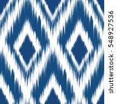 ikat seamless pattern design... | Shutterstock .eps vector #548927536