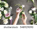 Female Florist Making Beautifu...