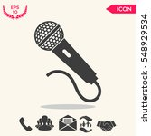 microphone icon | Shutterstock .eps vector #548929534