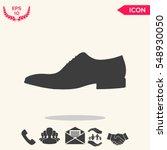 men's shoe icon. menu item in...