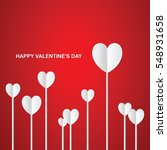valentines day heart on red... | Shutterstock .eps vector #548931658