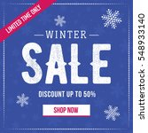 winter sale social network... | Shutterstock .eps vector #548933140