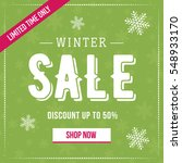 winter sale social network... | Shutterstock .eps vector #548933170
