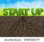 start up business 3d... | Shutterstock . vector #548938579