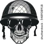 vector illustration of skull in ... | Shutterstock .eps vector #548938918
