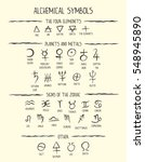 hand drawn vector set of the... | Shutterstock .eps vector #548945890