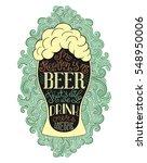 Foamy Beer Glass Vintage Poster....