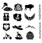 national symbols of poland  ... | Shutterstock .eps vector #548950999