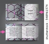 brochure template with abstract ... | Shutterstock .eps vector #548961574