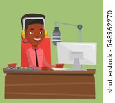 african american dj working on... | Shutterstock .eps vector #548962270