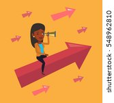 an african business woman...   Shutterstock .eps vector #548962810