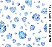 seamless pattern with diamond.... | Shutterstock . vector #548966458