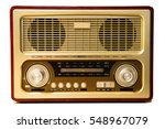old radio isolated on white... | Shutterstock . vector #548967079