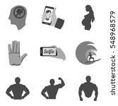set of people icons and symbols ...