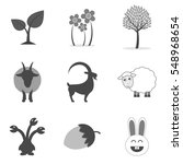 set of nature icons and symbols ...