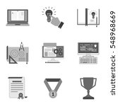 set of education icons and...