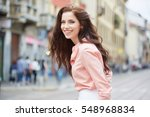 close up fashion woman portrait ... | Shutterstock . vector #548968834