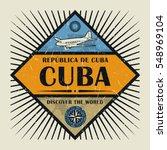 stamp or vintage emblem with... | Shutterstock .eps vector #548969104