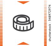 measure tape vector icon.... | Shutterstock .eps vector #548972974