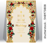indian wedding invitation card... | Shutterstock .eps vector #548973808