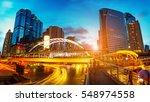 close view cityscape modern... | Shutterstock . vector #548974558