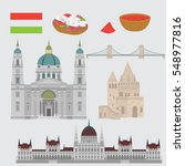 hungarian city sights in... | Shutterstock .eps vector #548977816