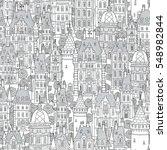seamless pattern of fantasy... | Shutterstock .eps vector #548982844