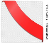 paper sheet with a red ribbon.... | Shutterstock .eps vector #548984416