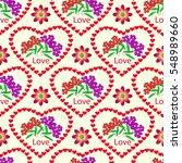 seamless cute pattern of... | Shutterstock .eps vector #548989660