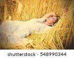 beautiful smiling woman in... | Shutterstock . vector #548990344