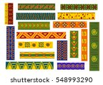 african ethnic decorative... | Shutterstock .eps vector #548993290