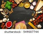 italian food or ingredients... | Shutterstock . vector #549007744