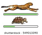 cheetah and turtle. fast and... | Shutterstock .eps vector #549013390