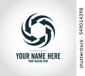 social relationship logo and... | Shutterstock .eps vector #549014398