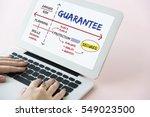 warranty assurance guarantee... | Shutterstock . vector #549023500